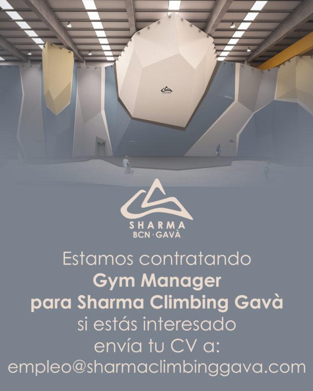 Estamos contratando Gym Manager para Sharma Climbing Gavà. • • • si estás interesado envía tu CV a: empleo@sharmaclimbinggava.com