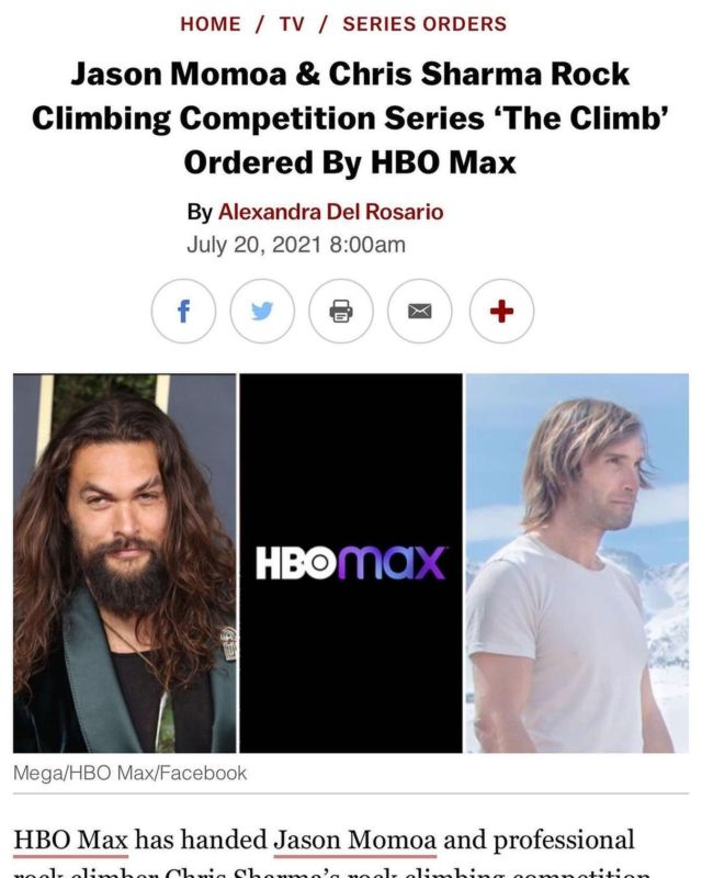Posted by• @prideofgypsies It's official I am so excited to announce this show that @chris_sharma and I Will be doing Mahalo to everyone beyond excited!!! @hbomax Aloha j .